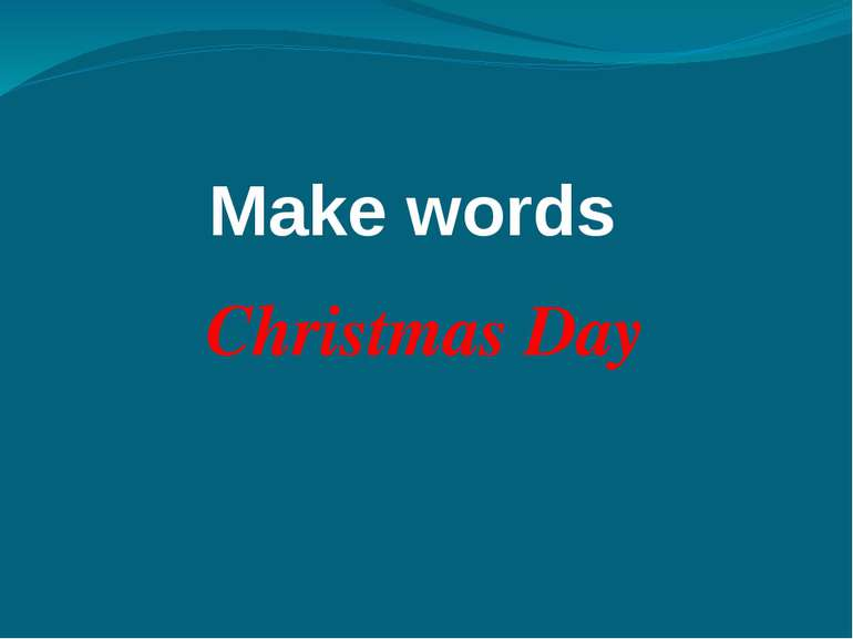 Make words Christmas Day