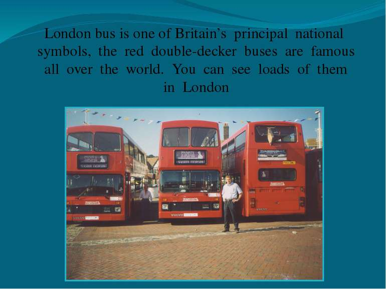 London bus is one of Britain's principal national symbols, the red double-dec...