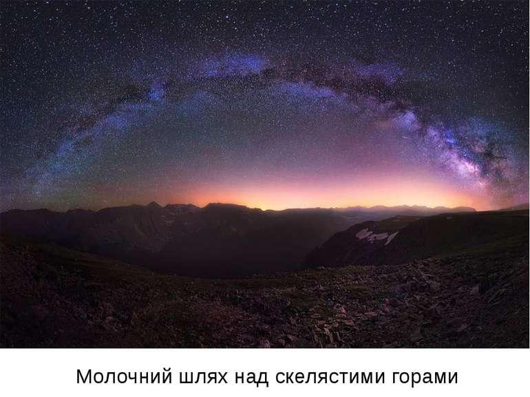 Молочний шлях над скелястими горами