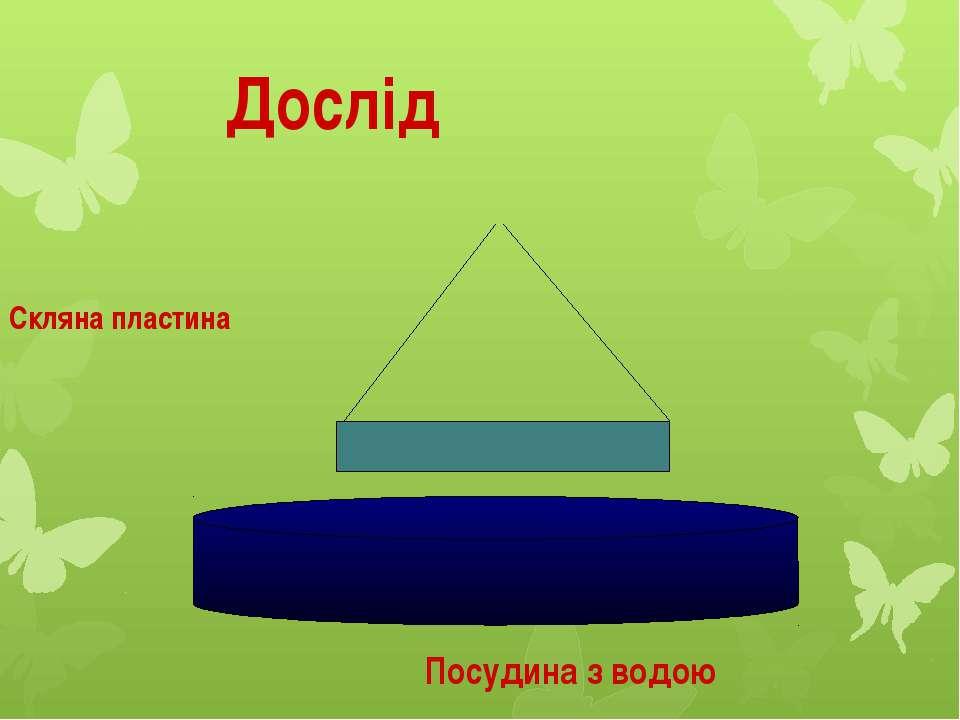 Висновок: Частинки води і скла притягуються одна до одної.