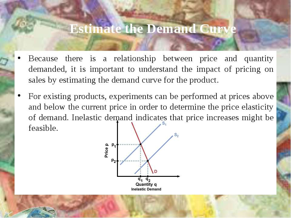 Estimate the Demand Curve Because there is a relationship between price and q...