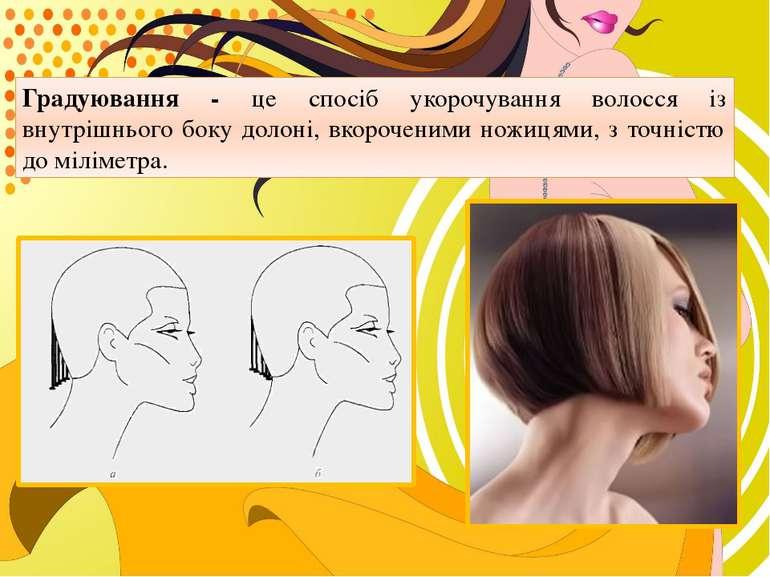 Градуювання - це спосіб укорочування волосся із внутрішнього боку долоні, вко...