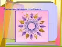 Приклад простого панно в техніці ізонитки