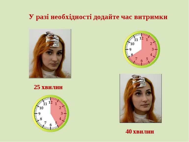 У разі необхідності додайте час витримки 25 хвилин 40 хвилин