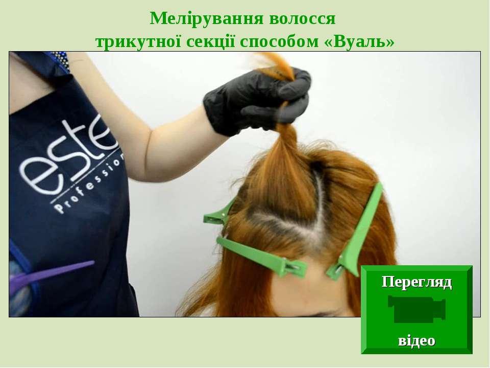 Мелірування волосся трикутної секції способом «Вуаль» Перегляд відео
