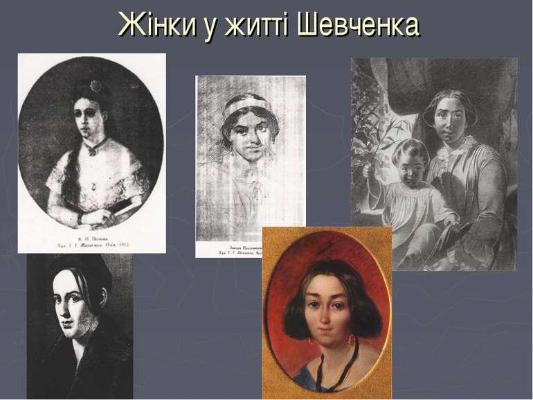 Жінки у житті Шевченка