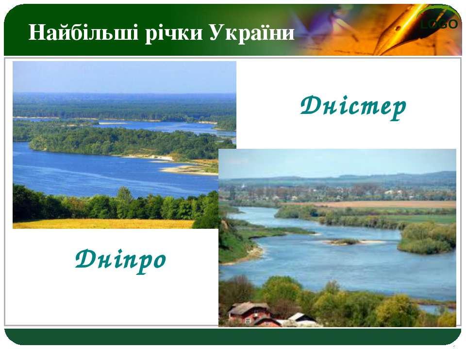 Найбільші річки України Дніпро Дністер LOGO