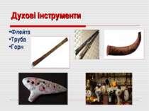 Духові інструменти Флейта Труба Горн