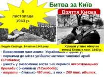 Битва за Київ Взяття Києва 6 листопада 1943 р. Визволення частинами Українськ...