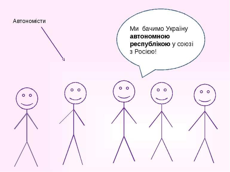 Автономісти Ми бачимо Україну автономною республікою у союзі з Росією!