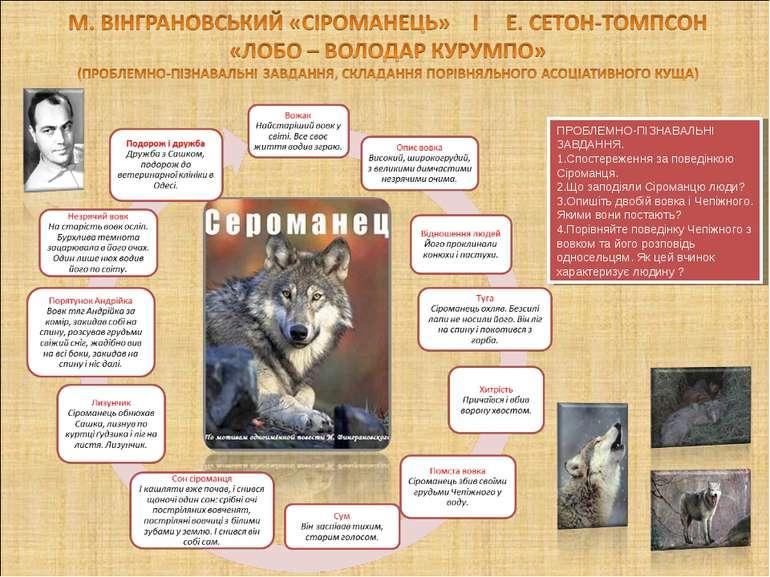 ПРОБЛЕМНО-ПІЗНАВАЛЬНІ ЗАВДАННЯ. Спостереження за поведінкою Сіроманця. Що зап...