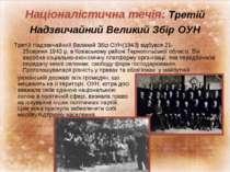 Націоналістична течія: Третій Надзвичайний Великий Збір ОУН Третій Надзвичайн...