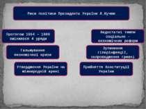 Риси політики Президента України Л.Кучми Протягом 1994 – 1999 змінилося 4 уря...