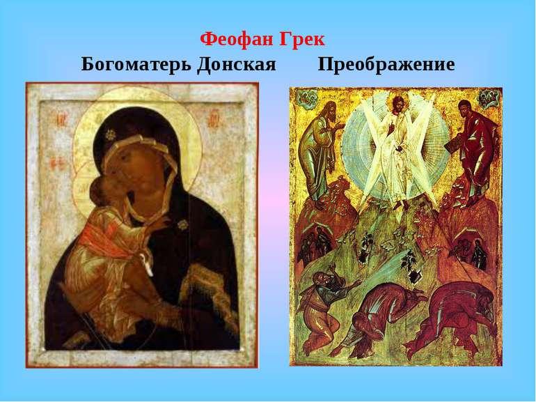 Феофан Грек Богоматерь Донская Преображение