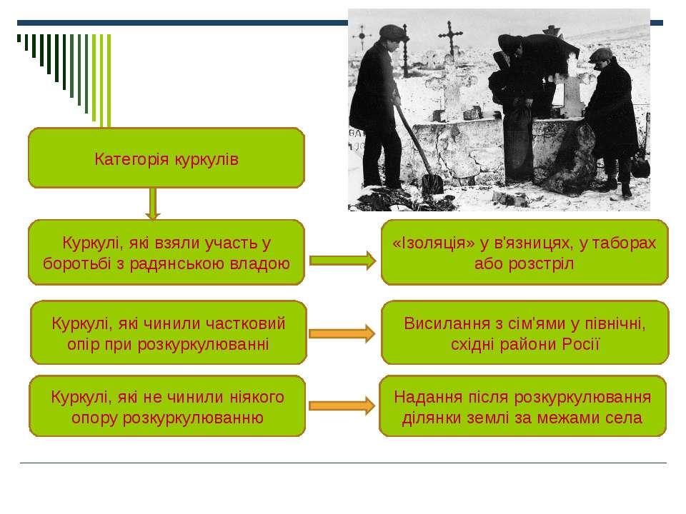 Категорія куркулів Куркулі, які взяли участь у боротьбі з радянською владою К...