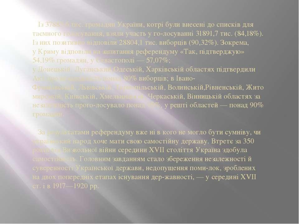 Із 37885,6 тис. громадян України, котрі були внесені до списків для таємного ...