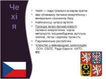 Чехія— індустріально-аграрна країна має обмежену паливно-енергетичну і мінер...