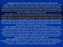 """Критерії оцінювання навчальних досягнень студентів з історії України Оцінка """"..."""
