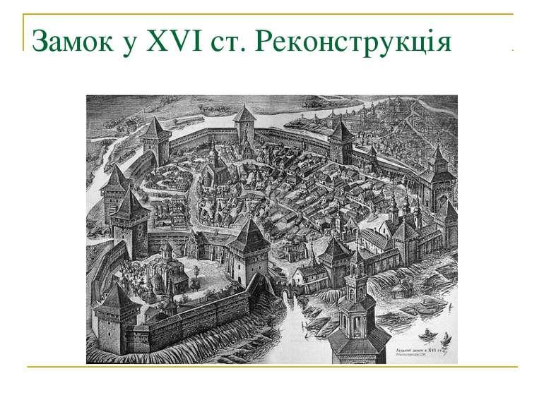 Замок у XVI ст. Реконструкція
