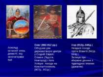 Аскольд останній князь династії, яку започаткував Кий Олег (882-912 рр.) Об'є...