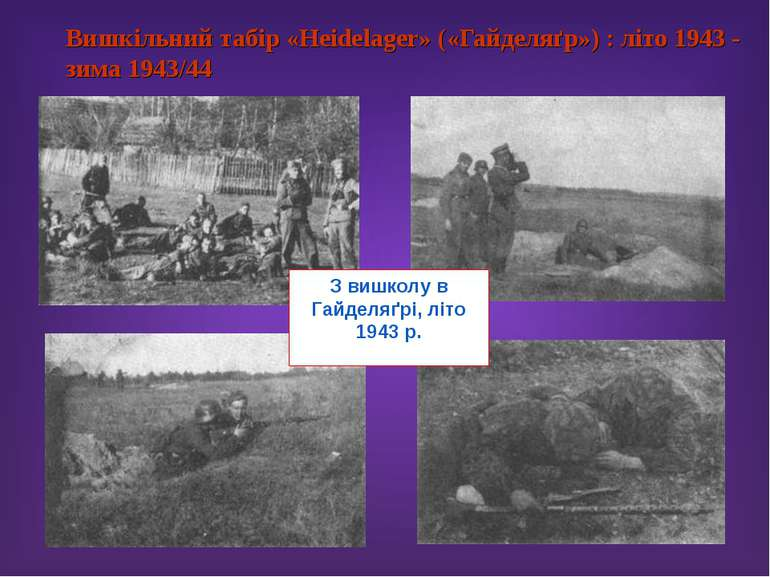 Вишкільний табір «Heidelager» («Гайделяґр») : літо 1943 - зима 1943/44 З вишк...