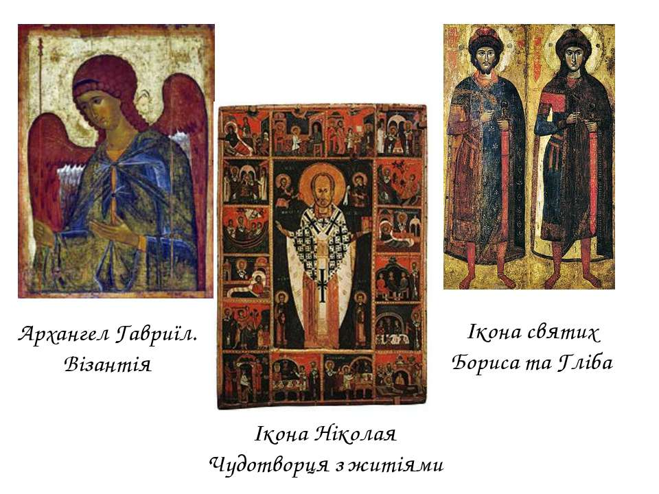 Архангел Гавриїл. Візантія Ікона святих Бориса та Гліба Ікона Ніколая Чудотво...