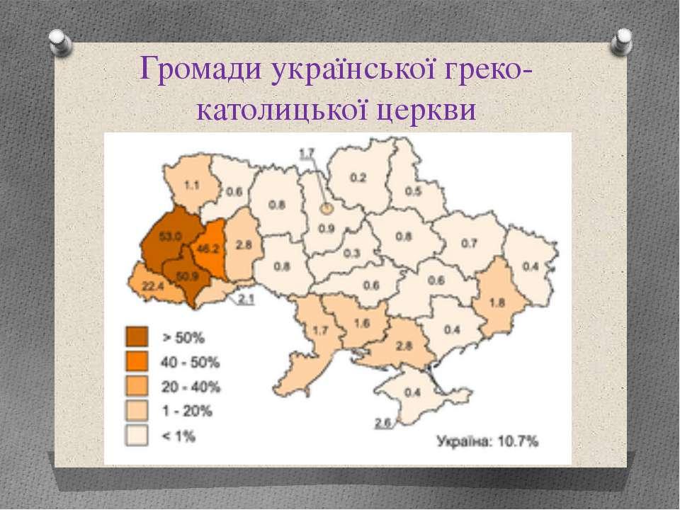 Громади української греко-католицької церкви