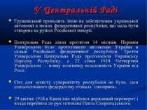 У Центральній Раді Грушевський проводить лінію на забезпечення української ав...