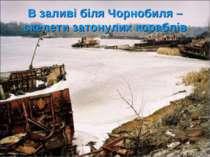 В заливі біля Чорнобиля – скелети затонулих кораблів