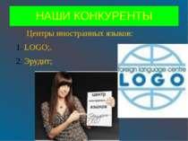 НАШИ КОНКУРЕНТЫ Центры иностранных языков: LOGO;. Эрудит;
