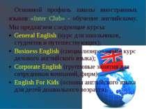Основной профиль школы иностранных языков «Inter Club» - обучение английскому...