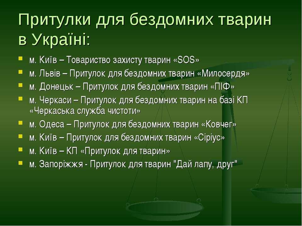 Притулки для бездомних тварин в Україні: м. Київ – Товариство захисту тварин ...