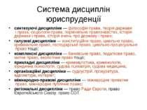 Система дисциплін юриспруденції синтезуючі дисципліни— філософія права, теор...