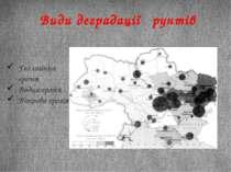 Види деградації ґрунтів Геологічна ерозія Водна ерозія Вітрова ерозія