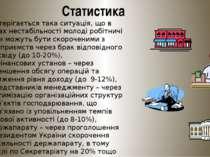 Статистика Спостерігається така ситуація, що в умовах нестабільності молоді р...