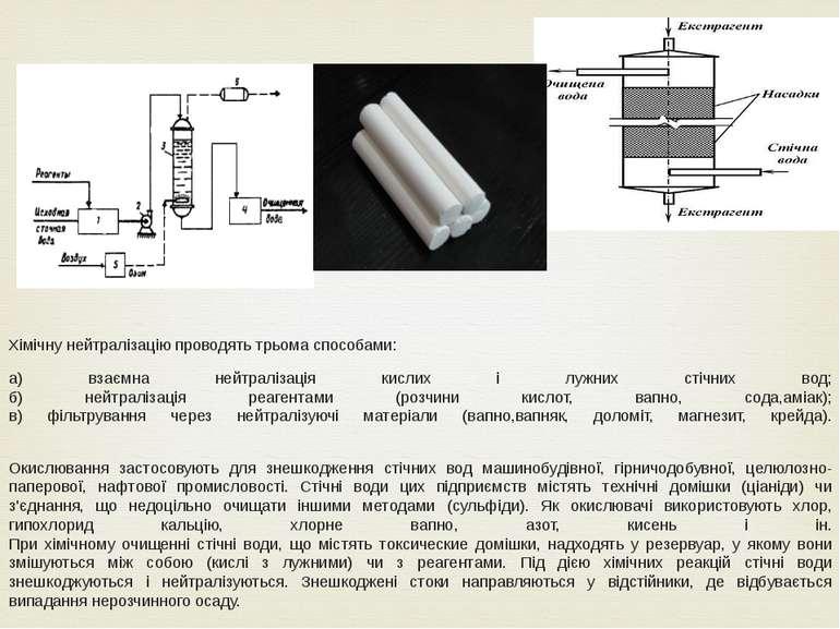 Хімічну нейтралізацію проводять трьома способами: а) взаємна нейтралізація ки...