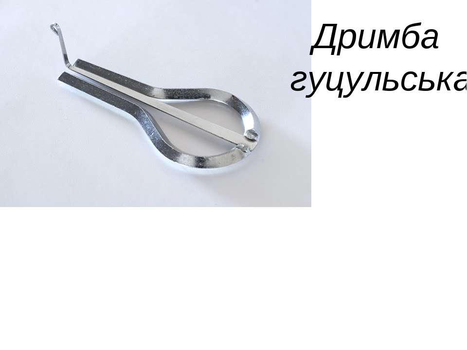 Музичні інструменти Дримба гуцульська