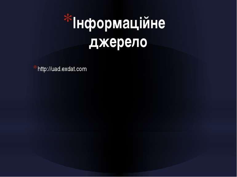 Інформаційне джерело http://uad.exdat.com