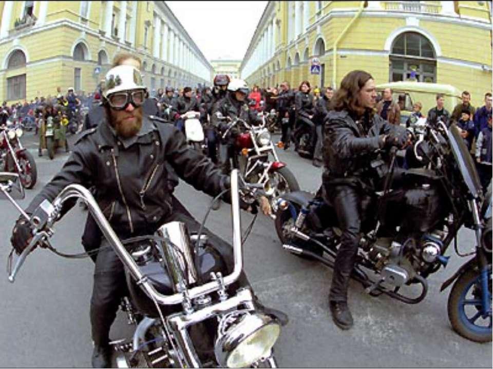Основними рисами рокерів стала прихильність до рок- н- ролу і їзди на мотоцик...