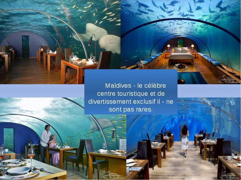 Maldives - le célèbre centre touristique et de divertissement exclusif il - n...