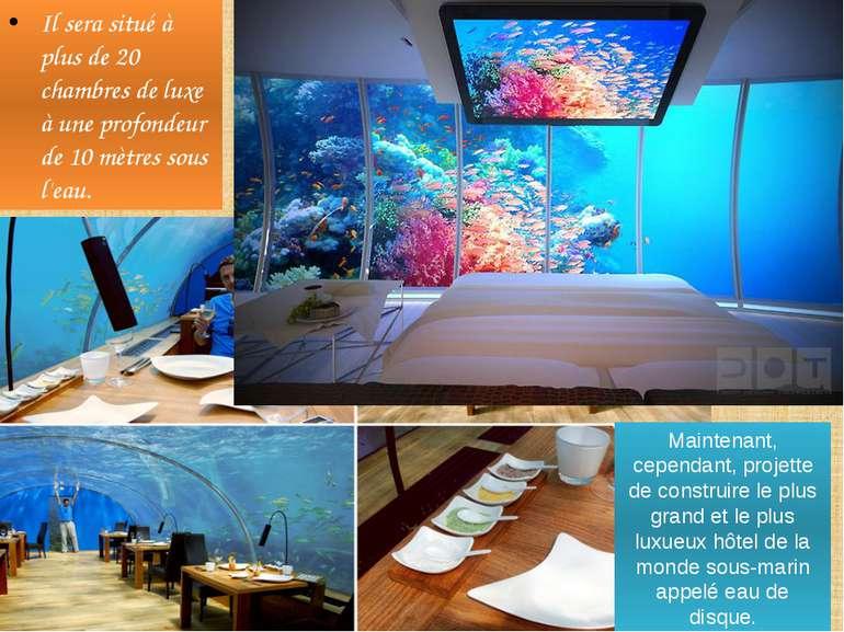 Il sera situé à plus de 20 chambres de luxe à une profondeur de 10 mètres sou...
