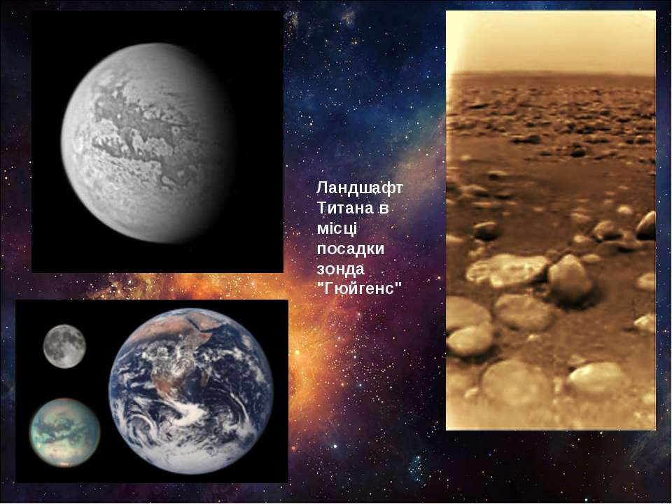 """Ландшафт Титана в місці посадки зонда """"Гюйгенс"""""""