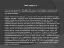 As the economy expanded during the 19th century, advertising grew alongside. ...