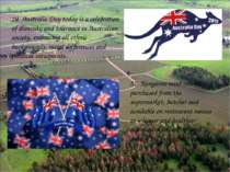 20. Australia Day today is a celebration of diversity and tolerance in Austra...