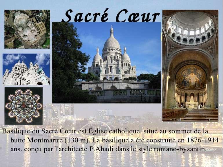 Sacré Cœur Basilique du Sacré Cœur est Église catholique, situé au sommet de ...