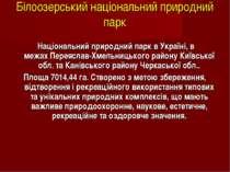 Білоозерський національний природний парк Національний природний парквУкра...