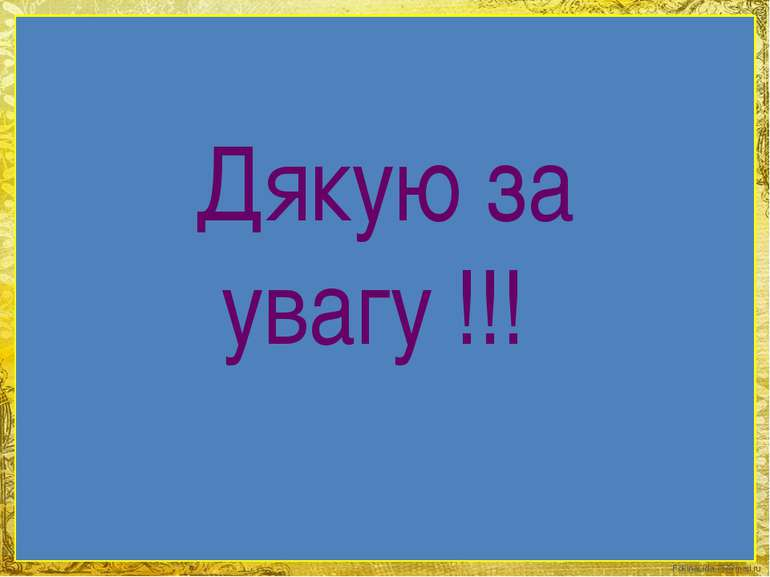 Дякую за увагу !!! FokinaLida.75@mail.ru