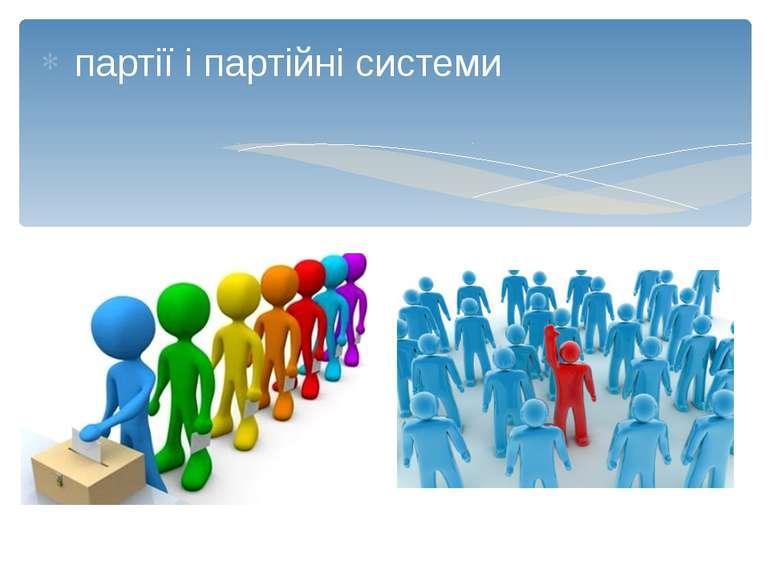 партії і партійні системи