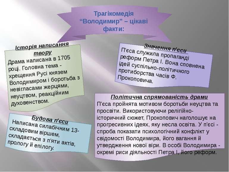 """Трагікомедія """"Володимир"""" – цікаві факти: Історія написання твору Драма написа..."""
