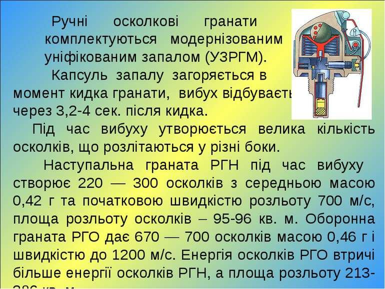 Ручні осколкові гранати комплектуються модернізованим уніфікованим запалом (У...